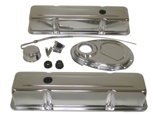 Chrome Engine Kit - 1958-86 Chevy Small Block 283-305-327-350 Steel (Tall) Engine Dress Up Kit - Chrome