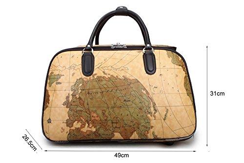 Avec Petit Voyage Sacage vacances LeahWard Dee Dee De Voyage Voyage roue Sac Bagages Sac Sac Sacs Femme Taille Map 5zO7qzv