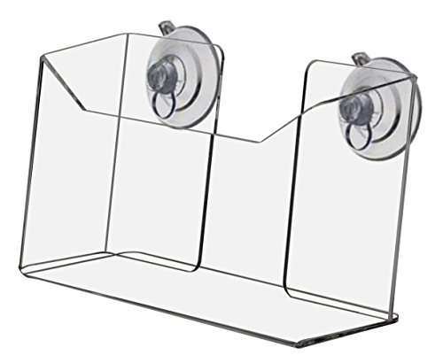 Marketing Holders Clear Acrylic Wall Mount Suction Cup Postcard Holder by marketing holders