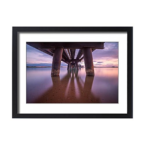 Media Storehouse Framed 24x18 Print of The aluminium pipes line station in the sea of Gove Peninsula (14624681) (Home Wallpaper Place Like Border)