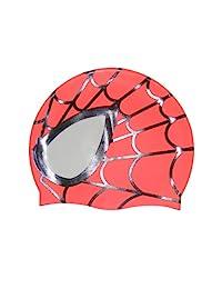 Colorfulworld Children's swimming cap hat-Spider Silicone swimming cap