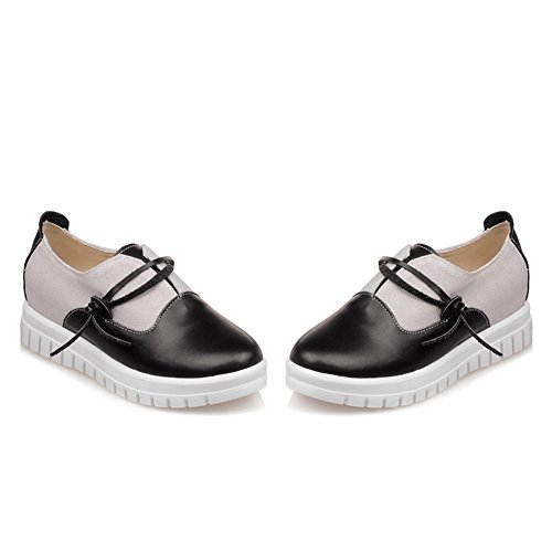 Balamasa Dames Assortiment Kleurplatform Ronde Neus Urethaan Oxfords-schoenen Zwart