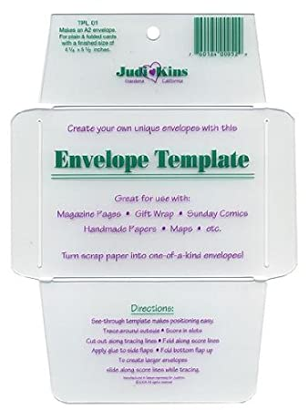 Amazon.Com: Judikins Envelope Templates Mini Envelope Template Set