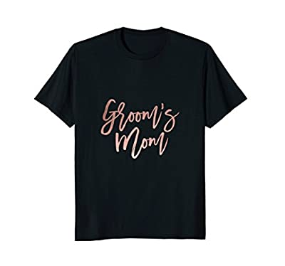 Grooms Mom Chic Faux Rose Gold Wedding T-Shirt for Her