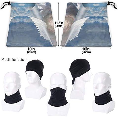 Angel Wings Pull Apart ネックカバー 日焼け防止 バンダナ バイク用 フェイスガード 多機能 マジックスカーフ