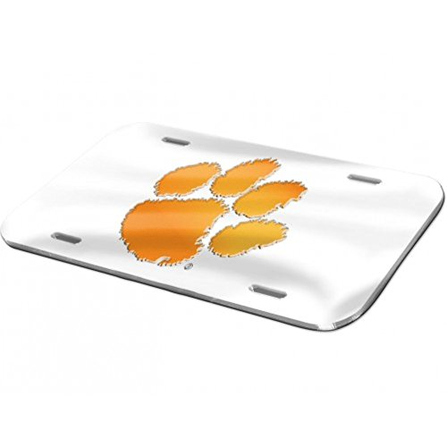 - Clemson Tigers Logo Crystal Mirror License Plate