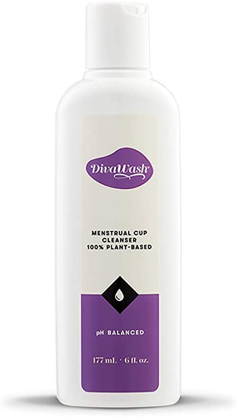 DivaWash DivaCup Menstrual Cup Cleanser, 100 Por Ciento A Base De Plantas, 177 Mililitros