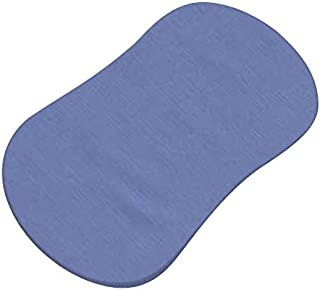 product image for SheetWorld Fitted 100% Cotton Percale Bassinet Sheet Fits Halo Bassinet Swivel Sleeper 17 x 30, Wedgewood Blue Woven, Made in USA