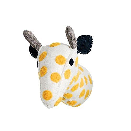 (Creative Co-op Stuffed Animal Giraffe Trophy Head Wall Decor)
