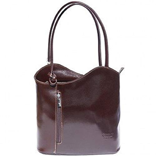 LaGaksta Easy Carry Italian Leather Convertible Backpack Shoulder Purse  Medium 94b75d7c03ab0
