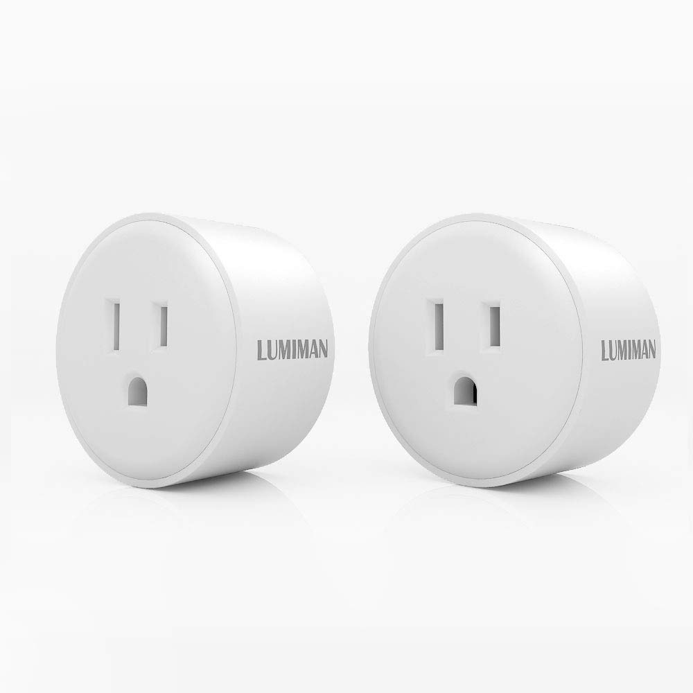 Compatible with  Alexa and Google Home Assistant Outdoor Smart Plug LUMIMAN Energy Monitoring Wi-Fi Outlet with 2 Socket Waterproof for Indoor and Outdoor Use No Hub Required