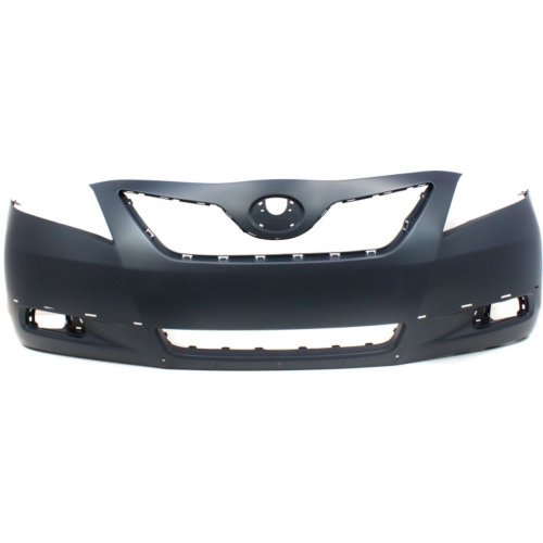 Front Bumper Cover Compatible with Toyota Camry 2007-2009 Primed with Spoiler Holes SE Model USA Built ()