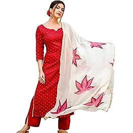 ANNI DESIGNER Women's Raspberry Handpainted Suit Set