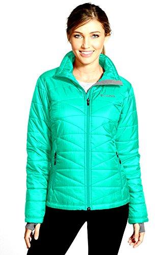 Columbia Morning Light Jacket color OCEANIC OMNI HEAT WOMEN'S PLUS SIZE 1X