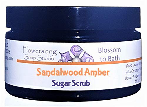 (Sandalwood Amber Sugar Scrub - Soften, Moisturize and Exfoliate in One Step)