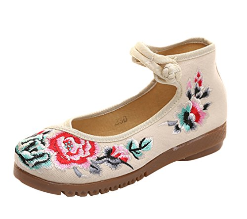 Icegrey WoMen Mary Jane Beige