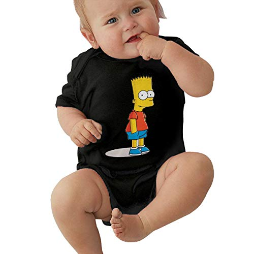 LiuYeWen Bart Simpson Limited Edition Baby Clothes Casual Style Black 2T -