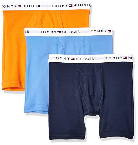 Tommy Hilfiger Men's 3-Pack Cotton Boxer Brief,Tangerine,XX-Large(44-46)