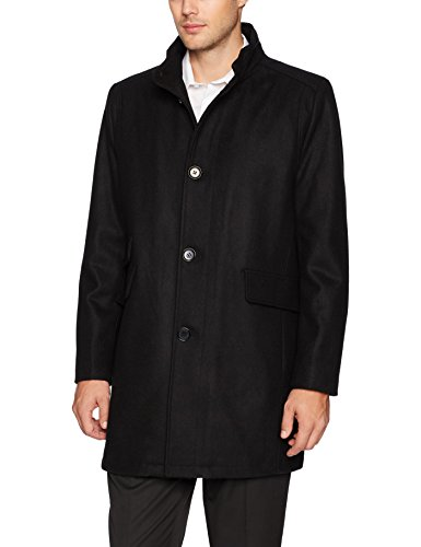 Kenneth Cole New York Men's Twill Wool Walker Jacket, Black, Medium Wool Walker