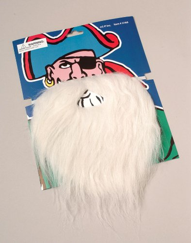 USToy Disguise Santa Claus, Wizard, Biker Fake Beard and Mustache Costume, White (Santa Claus Costumes For Sale)