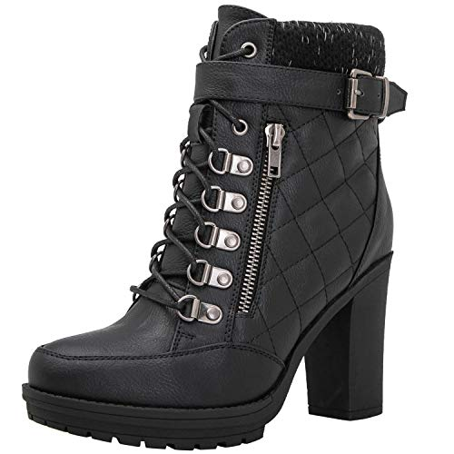 Black Fashion Boots - GLOBALWIN Women's 18YY35 Black Fashion Boots 7.5M
