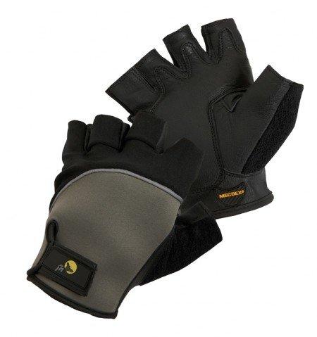 10 FUSCUS Handschuh ohne Finger Ziegenleder und Neopren Gr