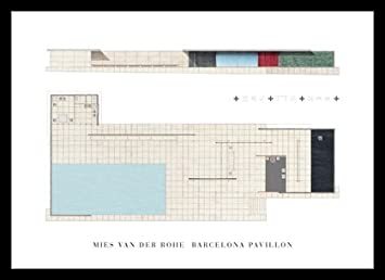 Ludwig Mies Van Der Rohe Barcelona Pavillon Poster Kunstdruck Bild