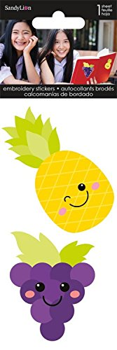 Sandylion Pineapple and Grapes Embroidered Sticker Patch ()