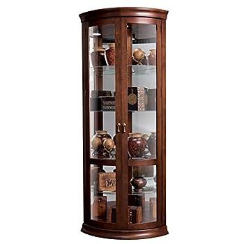 Howard Miller Chancellor 680-503 Corner Curio Cabinet