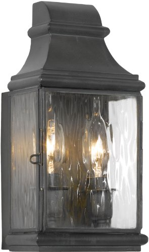 Elk Lighting Jefferson 2-Light Outdoor Wall Lantern, Charcoal