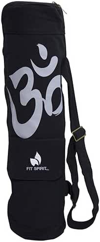 Fit Spirit Exercise Yoga Mat Bag w/ 2 Cargo Pockets - Choose Your Color (MAT IS NOT INCLUDED)
