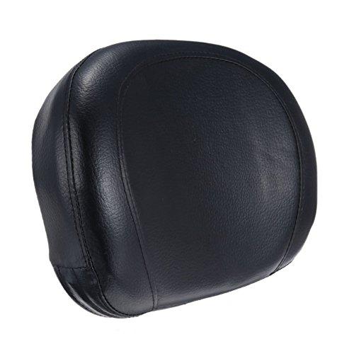 Backrest Pad - Iglobalbuy Universal Synthetic Leather Backrest Cushion Pad For Harley Honda Suzuki Yamaha