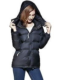 Women's Warm Lightweight Down Jackets, Winter Puffer Down Coats (Removable Hoodie)