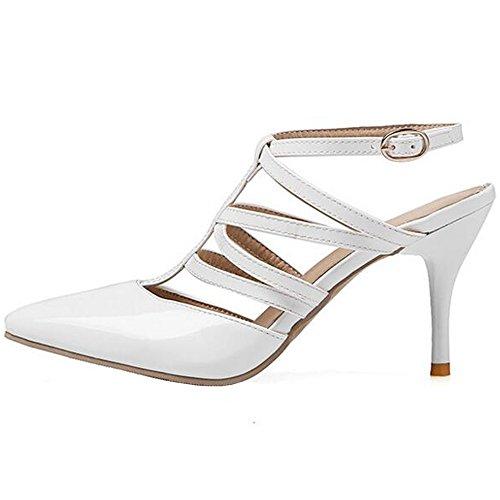 XINRD - Zapatos con correa de tobillo mujer blanco