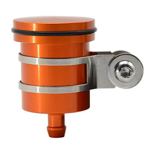 CNC Aluminum Oil Cup Front or Rear Brake Fluid Reservoir For KTM DUKE 125 200 390 690 RC 125 200 390, EXC SX XC 125 150 200 250 300 350 400 450, KTM 1050 1090 1190 1290 ADV ADVENTURE (Orange)