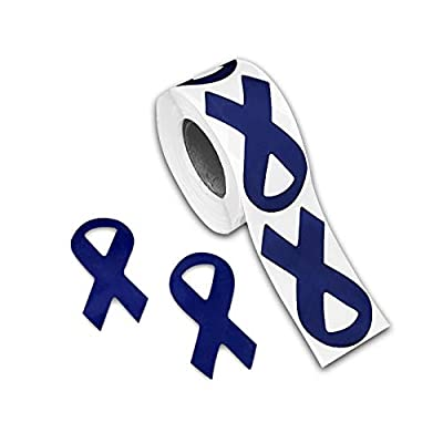 Fundraising For A Cause 250 Colon Cancer Awareness Ribbon Stickers (250 Stickers): Toys & Games