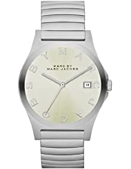 Marc by Marc Jacobs Henry Silver Watch with Stretch Band MBM3236
