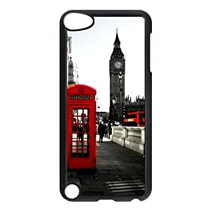 Pink Ladoo? Apple iPod Touch 5th Red British Phone Booth Big Ben Hard Case Phone Cover London Featured Series Protective Cases