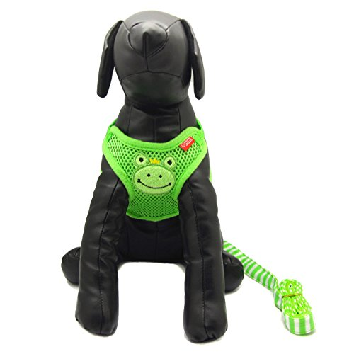 Alfie Pet by Petoga Couture - Pela Step-in Harness and Leash Set - Color: Green, Size: Large