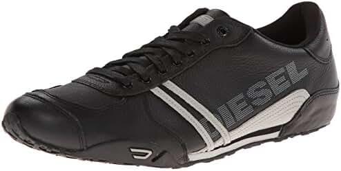 Diesel Men's Harold Nylon/Leather Fashion Sneaker