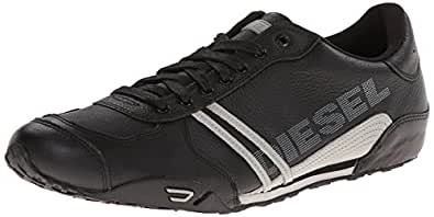 Diesel Men's Harold Solar Fashion Sneaker, Black/Gray, 7 M US