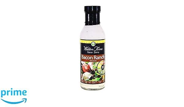 Aliño para Ensaladas Bacon Ranch Sin Calorías Walden Farms 355ml: Amazon.es: Salud y cuidado personal