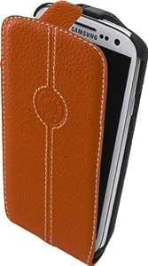 Faconnable FACOSELGS3O - Funda de piel con tapa para Samsung Galaxy S3, color naranja