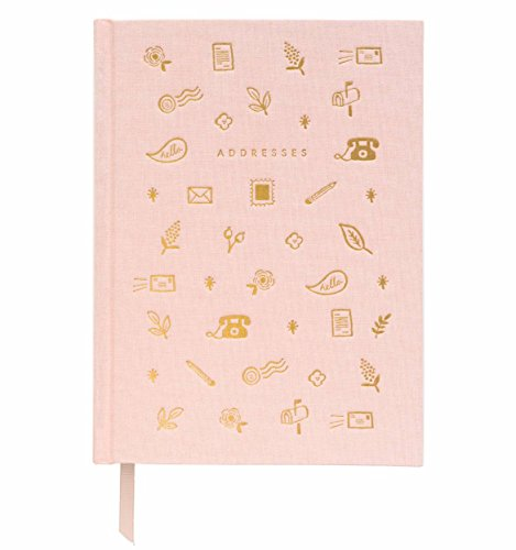 Blush Address Book with Book Cloth Cover by Rifle Paper Co.