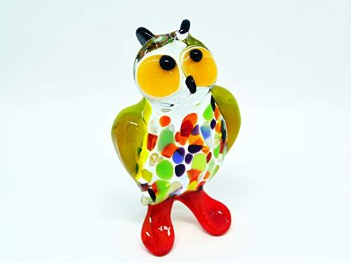 - Glass Owl Figurines, Glass Owl Ornaments, Glass Owl Award, Glass Owl Collectable, Christmas Ornaments, Glass Owl Decor, Glass Owl Figure Art