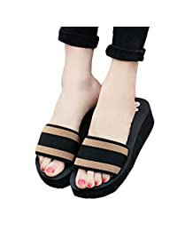 Tenworld Women Summer Platform Sandals Shoes Indoor Outdoor Beach Slippers