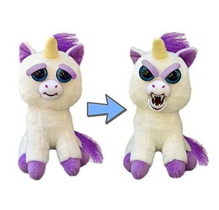 """Feisty Pets: Glenda Glitterpoop the Unicorn - Goes from """"Awww"""" to """"Ahhh!"""" with a Squeeze"""
