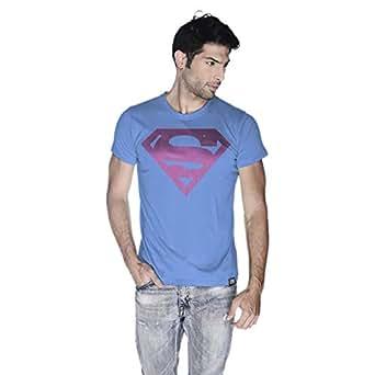 Creo Superman Pink T-Shirt For Men - L, Blue
