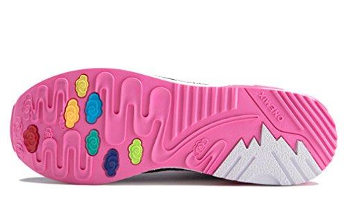 Pink Durchgängies Unisex Sandalen onemix Keilabsatz Schwarz Erwachsene Plateau mit qHxpU6