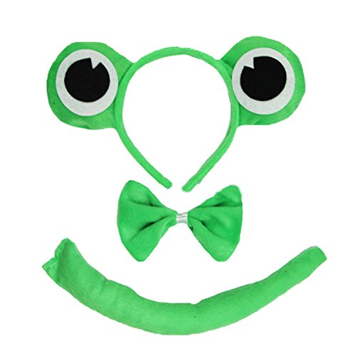 Kirei Sui Kids Frog Headband Tie Tail 3pcs ()